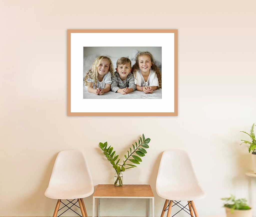 Indoor photo of chairs and family photo